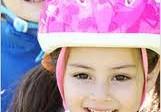 pige med hjelm